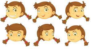 Variations of a girl's faces Royalty Free Stock Photos