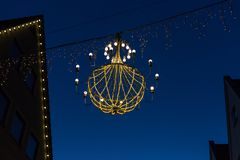 Variations on a lustre at christmas market blue hour Stock Photos