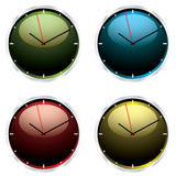 Variations modern wall clock Stock Images