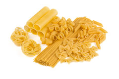 Variations of pasta isolated Stock Images