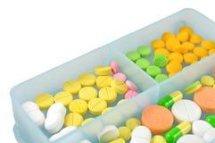 Variations of pills Stock Photo