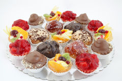 Variations of small cakes Royalty Free Stock Photography