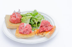 Variations of tartare Stock Image