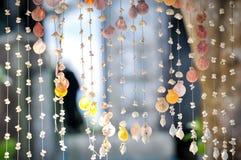 Variationssnäckskal som hänger för gardinskal och mobil garnering Royaltyfri Fotografi