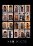Variaty der alten toskanischen Türen Lizenzfreies Stockbild