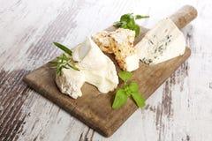 Variazione del formaggio, stile rustico. Immagine Stock
