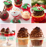Variazione di mini bigné festivi del dessert Immagine Stock Libera da Diritti