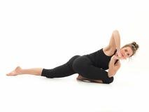 Variazione difficile di pratica di yoga Immagine Stock Libera da Diritti