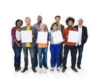 Variazione etnica Team Unity Concept di etnia di diversa diversità Fotografie Stock Libere da Diritti