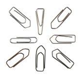 Variazione metallica delle clip di carta Immagine Stock