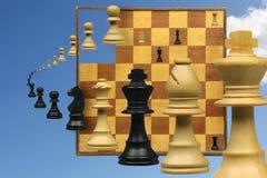 Variazione su un gioco di scacchi Immagine Stock Libera da Diritti