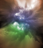 Variazione variopinta delle nuvole Fotografia Stock