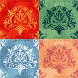Variazioni di colore degli elementi classici della decorazione Fotografie Stock