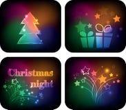Variazioni di notte di Natale Immagine Stock