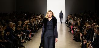 Zang Toi FW19 Runway show as part of there New York Fashion Week stock photo