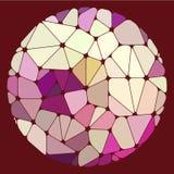 Varicolored геометрические элементы собранные в круг Стоковая Фотография RF