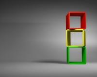 Varicolored Abstrakcjonistyczny prostokąt Obramia pozycję w Szarym pokoju ilustracji