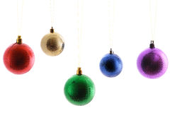 Varicolored  balls ,christmas toys Royalty Free Stock Images