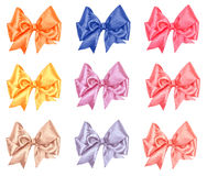 Varicolored bow set Stock Photos