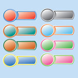 Varicolored button. Vector. Stock Photography