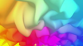 Varicolored cloth fluttering in the wind, abstract 3D animation, seamless. Computer-generated footage depicting the abstract cloth stock video footage