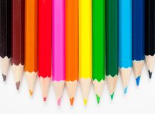 Varicolored color pencils Royalty Free Stock Photography