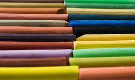 Varicolored färgpennor Arkivbild