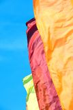 Varicolored flags Royalty Free Stock Photos