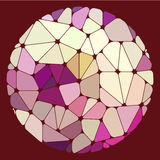 Varicolored geometric elements grouped in a circle Royalty Free Stock Photography