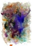 Varicolored Gouache Paint. Vibrant varicolored gouache painted texture as background stock illustration