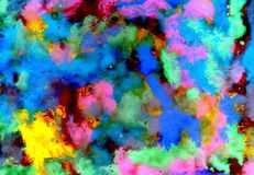 Varicolored Gouache Paint. Vibrant varicolored gouache painted texture as background Royalty Free Stock Images
