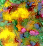 Varicolored guasz farba Zdjęcia Royalty Free