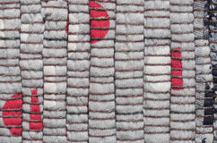 Varicolored knitted carpet background Royalty Free Stock Image