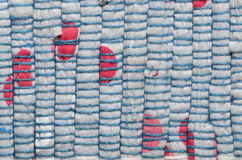 Varicolored knitted carpet background Royalty Free Stock Photography