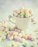 Varicolored marshmallows. Stock Image