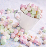 Varicolored marshmallows. Royalty Free Stock Photography