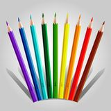 Varicolored pencil set Royalty Free Stock Photo