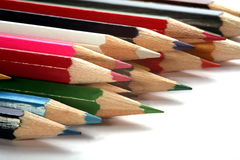 Varicolored pencils group Stock Images