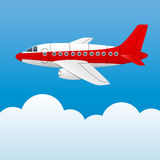 Varicolored plane Stock Photo
