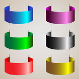 Varicolored ribbons Stock Images