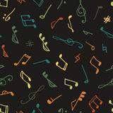 Varicolored seamless music pattern Stock Image