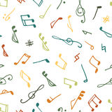 Varicolored seamless music pattern Stock Photo