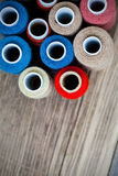 Varicolored spools of thread Royalty Free Stock Images