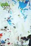 varicolored vägg för textur arkivbilder