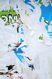 varicolored vägg för textur royaltyfri bild