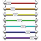 Varicolored web scrolls Stock Photo