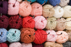 Varicolored wool Royalty Free Stock Images