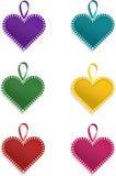 Varicolour hjärtor Arkivbild