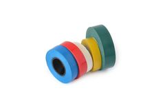Varicoloured Adhesive tape Royalty Free Stock Photography