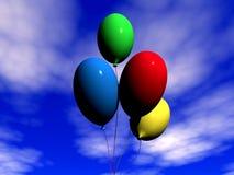 Varicoloured Ballone Lizenzfreie Stockfotos